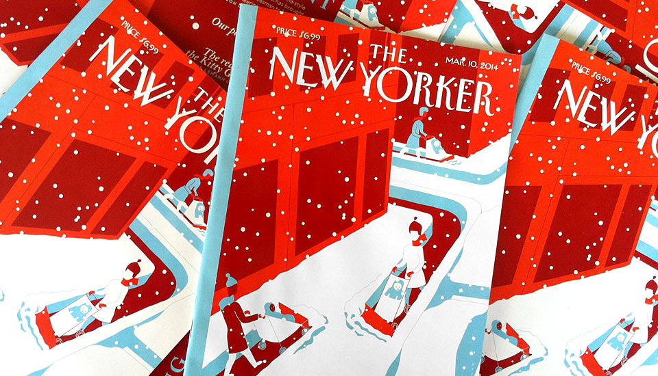 snow plows cover/the new yorker
