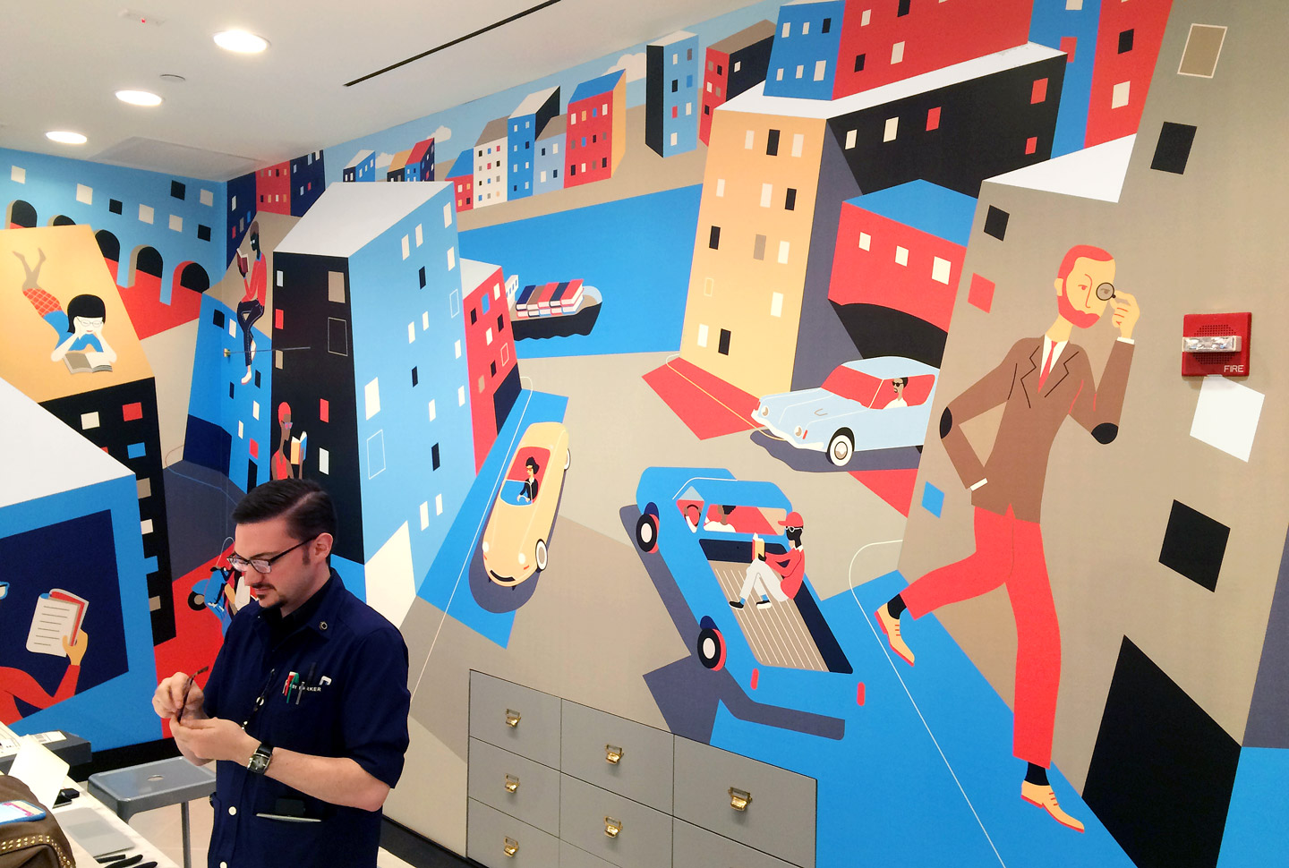 Mural for Warby Parker store in Baltimore, MD